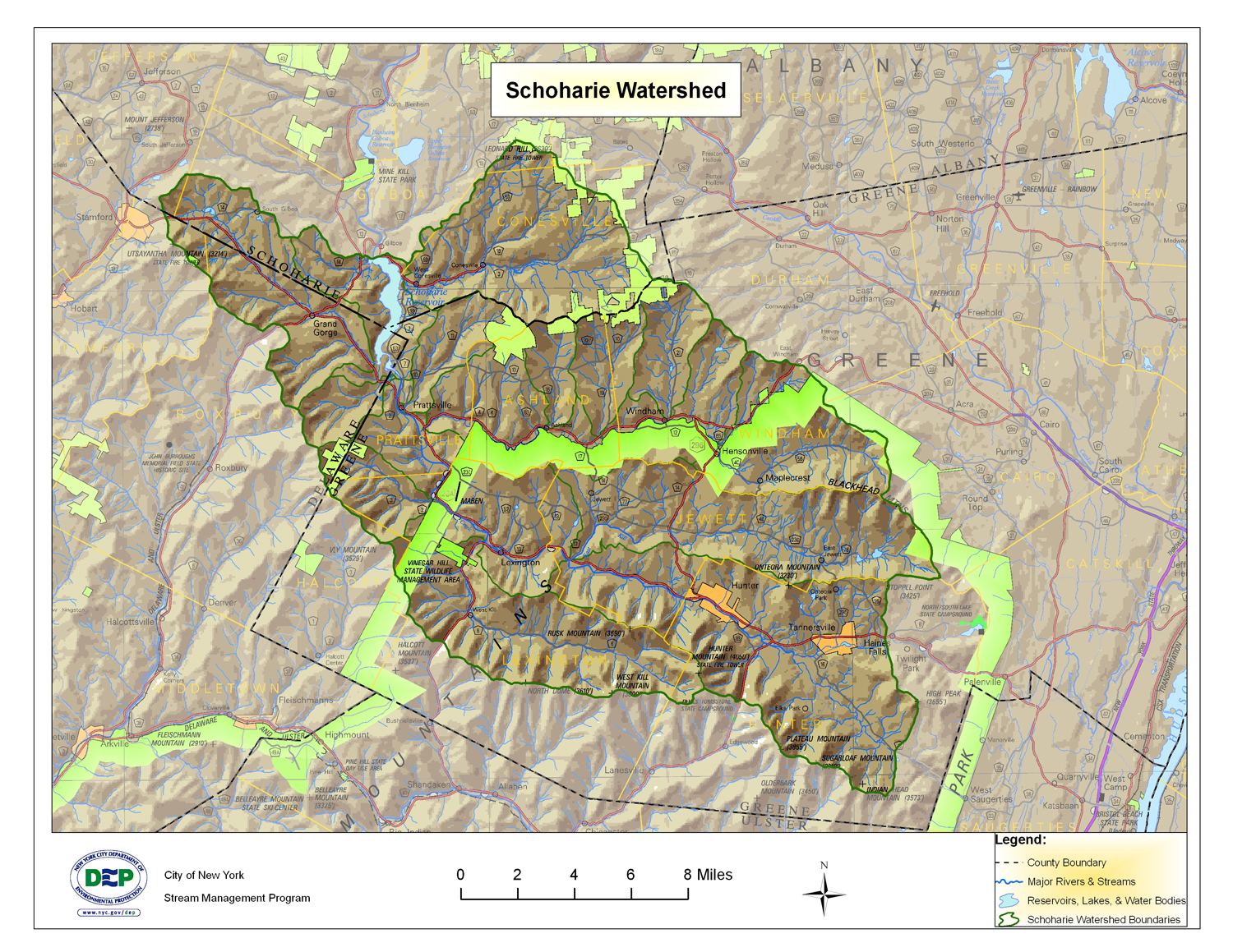 Schoharie Watershed Map