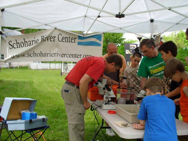Schoharie River Center water quality testing