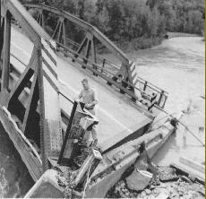 September 1960 flood event damaged every bridge over the Batavia Kill Stream